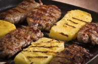 Grilled Sausage And Sliced Polenta